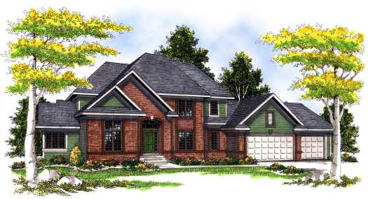 Traditional Style Home Design Plan: 7-372
