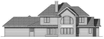Rear Elevation Plan: 7-372