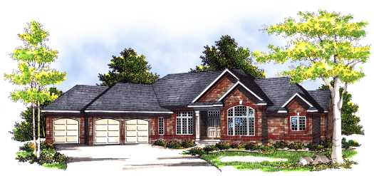 Traditional Style Home Design Plan: 7-373