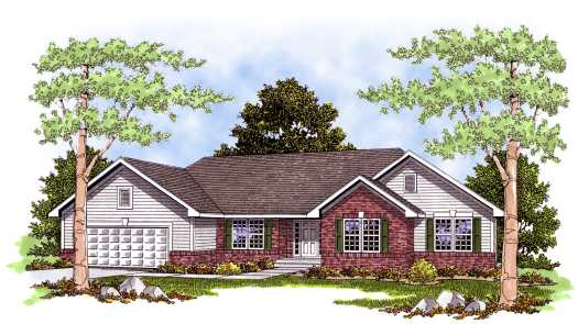 Ranch Style House Plans Plan: 7-374