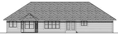 Rear Elevation Plan: 7-374