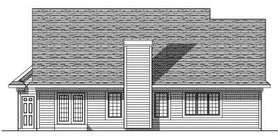 Rear Elevation Plan: 7-375