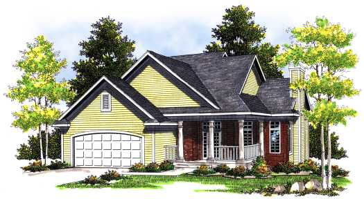 Traditional Style Home Design Plan: 7-376