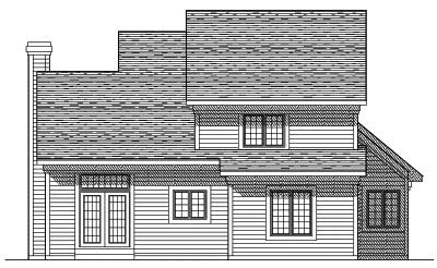 Rear Elevation Plan: 7-376