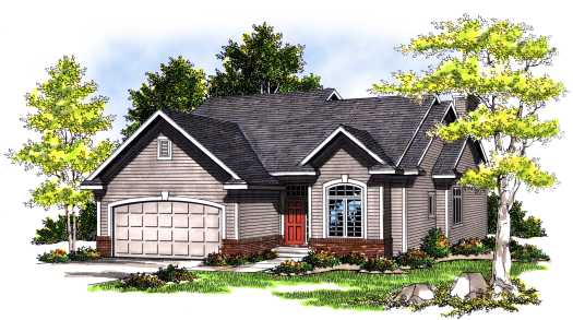 Traditional Style Home Design Plan: 7-377