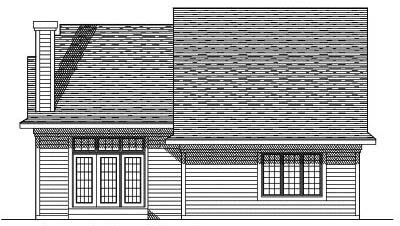 Rear Elevation Plan: 7-377