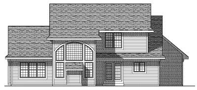 Rear Elevation Plan: 7-378
