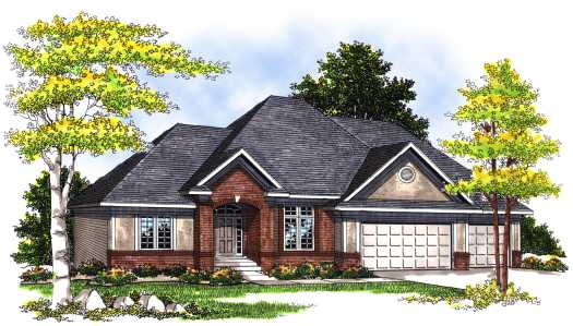 Traditional Style Home Design Plan: 7-379