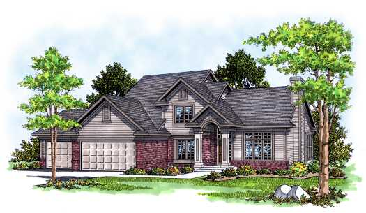 Traditional Style Home Design Plan: 7-382