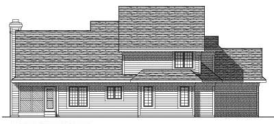 Rear Elevation Plan: 7-382