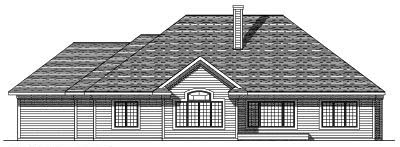 Rear Elevation Plan: 7-383