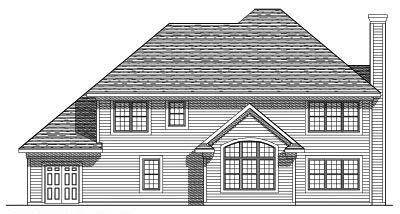 Rear Elevation Plan: 7-385