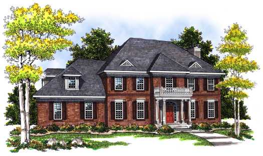 Southern-colonial Style Floor Plans Plan: 7-386