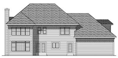 Rear Elevation Plan: 7-386
