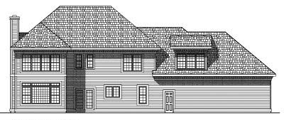Rear Elevation Plan: 7-387