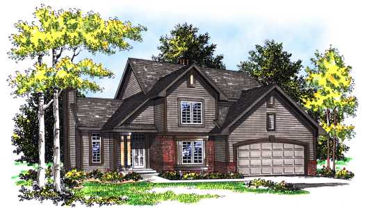 Traditional Style Home Design Plan: 7-388