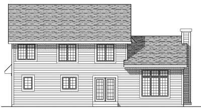Rear Elevation Plan: 7-388