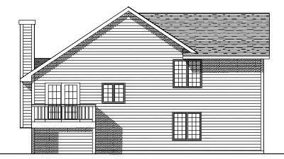 Rear Elevation Plan: 7-390
