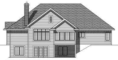 Rear Elevation Plan: 7-391