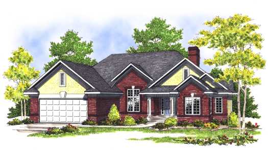 Traditional Style Home Design Plan: 7-392