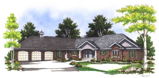 Ranch Style Home Design 7-393