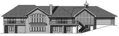 Rear Elevation Plan: 7-393