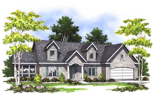 Traditional Style House Plans Plan: 7-394