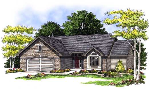 Traditional Style Home Design Plan: 7-396