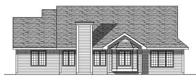 Rear Elevation Plan: 7-396