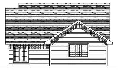 Rear Elevation Plan: 7-397