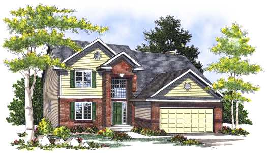 Traditional Style House Plans Plan: 7-398