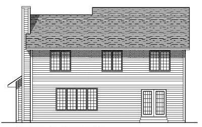 Rear Elevation Plan: 7-398