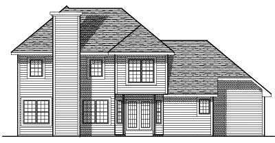 Rear Elevation Plan: 7-399