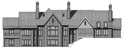 Rear Elevation Plan: 7-400