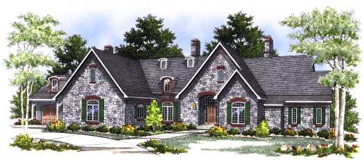 French-country Style House Plans Plan: 7-401