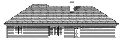 Rear Elevation Plan: 7-404