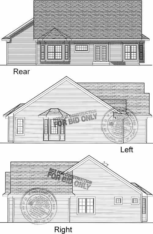 Rear Elevation Plan: 7-405