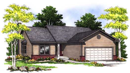 Traditional Style Home Design Plan: 7-406