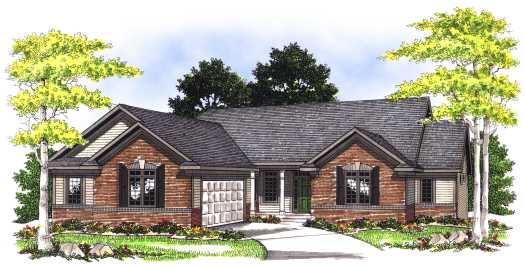 Traditional Style Home Design Plan: 7-407