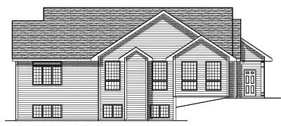 Rear Elevation Plan: 7-408
