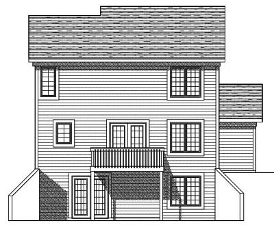 Rear Elevation Plan: 7-409