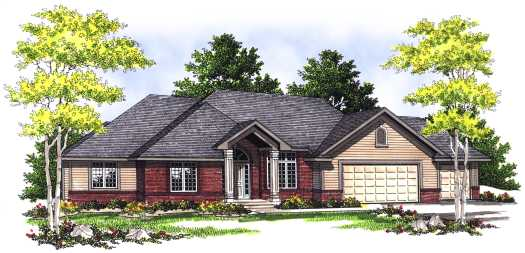 Traditional Style Home Design Plan: 7-410