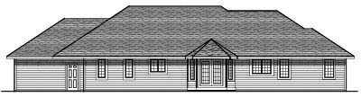Rear Elevation Plan: 7-410