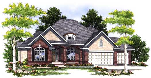 Traditional Style Home Design Plan: 7-411