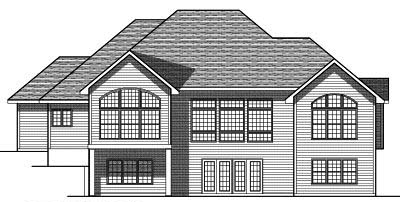 Rear Elevation Plan: 7-411