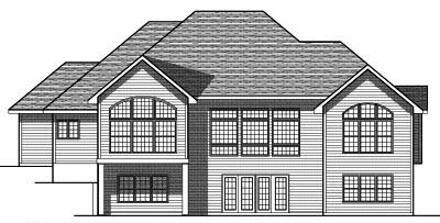 Rear Elevation Plan: 7-412