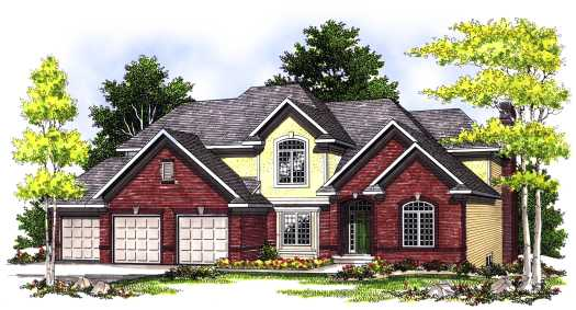 Traditional Style Home Design Plan: 7-413