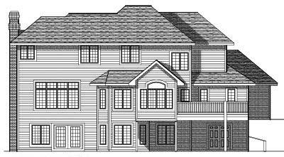 Rear Elevation Plan: 7-413