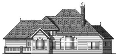 Rear Elevation Plan: 7-414