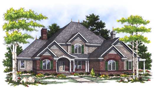 French-country Style House Plans Plan: 7-415